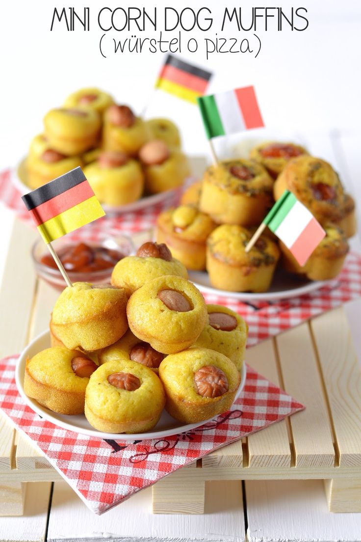 Stasera la sfida Italia - Germania si gioca anche a tavola con questi mini muffins doppio gusto alla farina di mais. Vi avviso: sono come...