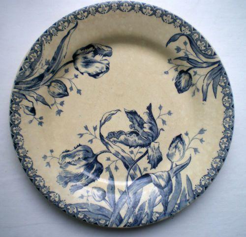 Assiette, Porcelaine, Gien Les tulipes