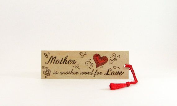 Mom Wood bookmark  Hand Pyrography  Mother is by bkinspired, $7.00