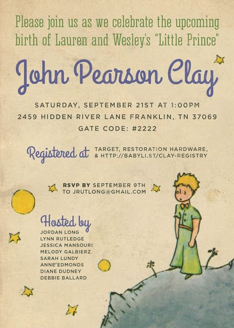 17 Best images about Le petit prince – Little Prince Birthday Invitations