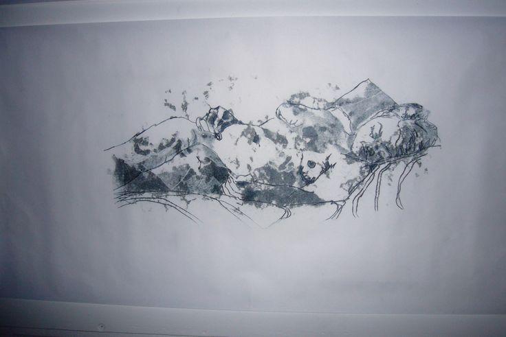 Monoprint 2007, by Jane Rusden