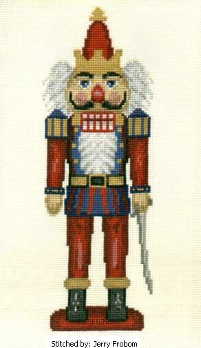 Mordecai nutcracker cross stitch pattern.