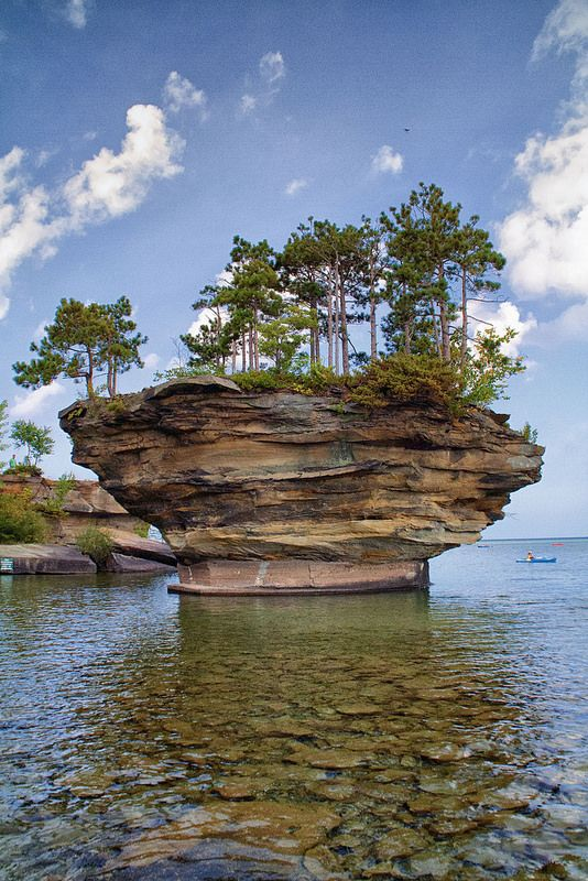 Turnip Rock - Port Austin, Michigan by J.M. Barclay on  Flickr - Photo Sharing!