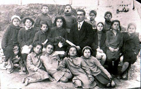 Students from the primary school of Sochi in Russia with their Pontic Greek school teacher. c 1932.