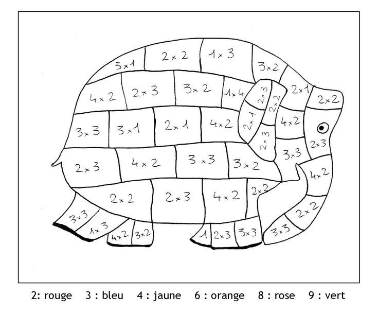 Coloriage magique ce1 multiplication for Multiplication cheval