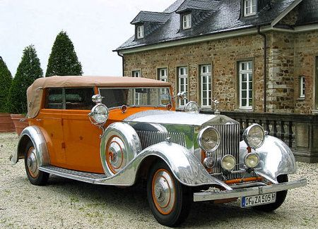 A sumptuous and distinctive Rolls Royce from times past.