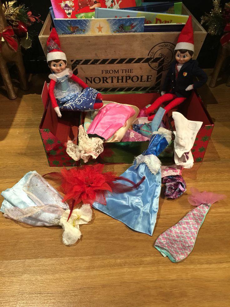 December 14 - elf dress ups!! #elfontheshelf