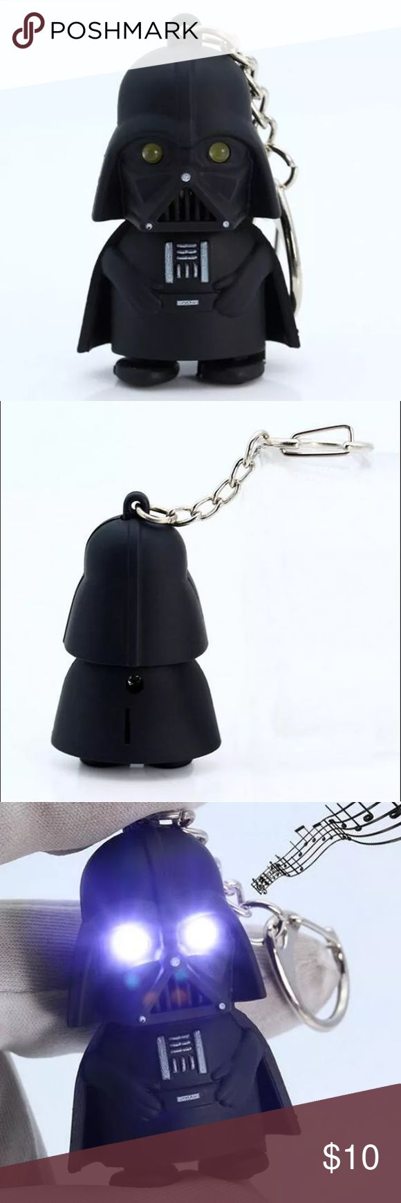 Darth Vader keychain Light up LED Star Wars Darth Vader with sound keychain Accessories Key & Card Holders