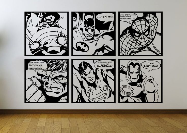25 best ideas about batman superman comic on pinterest for Comic book mural