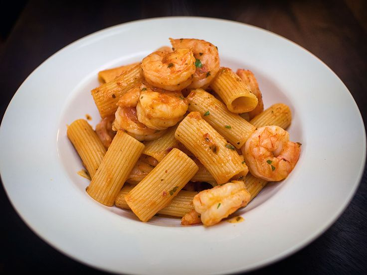 Shrimp Amatriciana with Pasta  Pasta con i Gamberi Amatriciana Nick Stellino ~ this picture looks different than the dish he created on his tv show