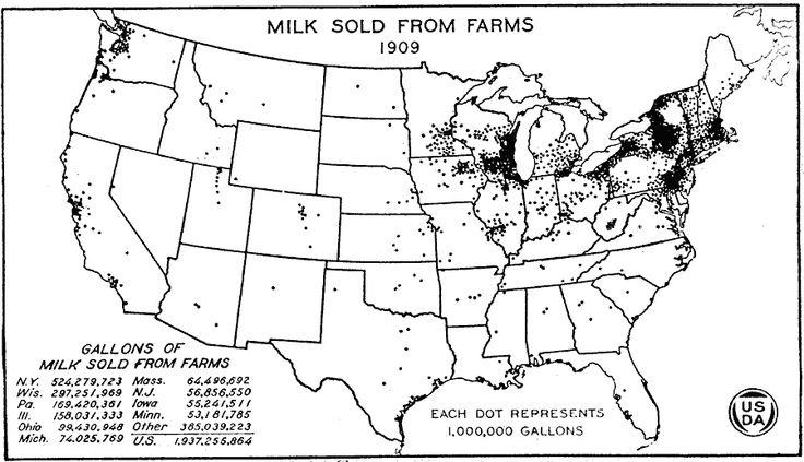 1920 United States Production Of Hogs 19001920 Progressive - Dairy Farm Dot Map O Us