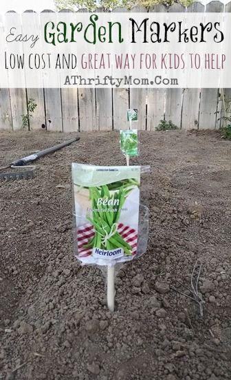 Garden Markers Garden Ideas Diy And Kids Craft Projects