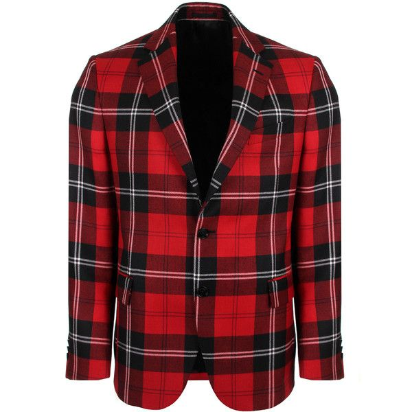 Versace Formal Tartan Jacket ($2,915) ❤ liked on Polyvore featuring men's fashion, men's clothing, men's outerwear, men's jackets, mens plaid jacket, mens checkered blazer, mens wool jacket and mens checked blazer