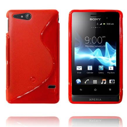 Transparent S-Line (Rød) Sony Xperia Go Deksel