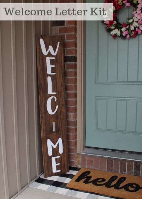Front Porch Sign Welcome Letters Kit Front Porch Signs Porch Signs Welcome Signs Front Door