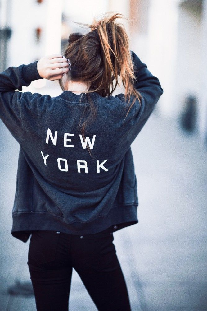 Brandy ♥ Melville | Elana New York Bomber Jacket - Graphics ...