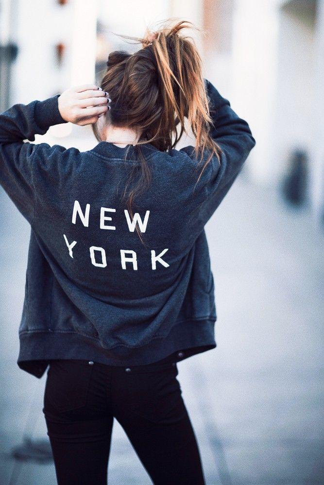 Brandy ♥ Melville | Elana New York Bomber Jacket - Graphics