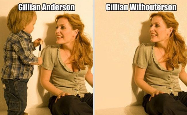 Gillian Anderson  30 Hilarious Celebrity Puns • Page 2 of 5 • BoredBug