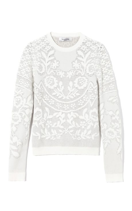 Long Sleeve Crew Pullover by Valentino Now Available on Moda Operandi