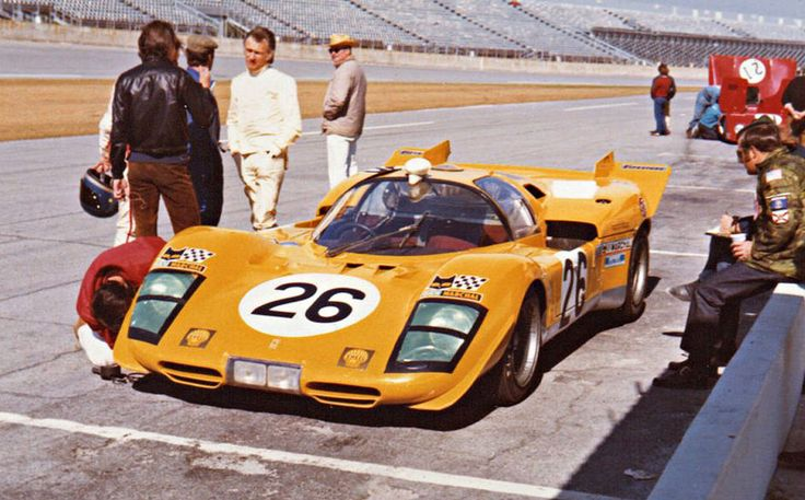 Hughes de Fierlant and Gustave Gosselin drove this Ferrari 512S at the 1971 Daytona 24 Hour Race.