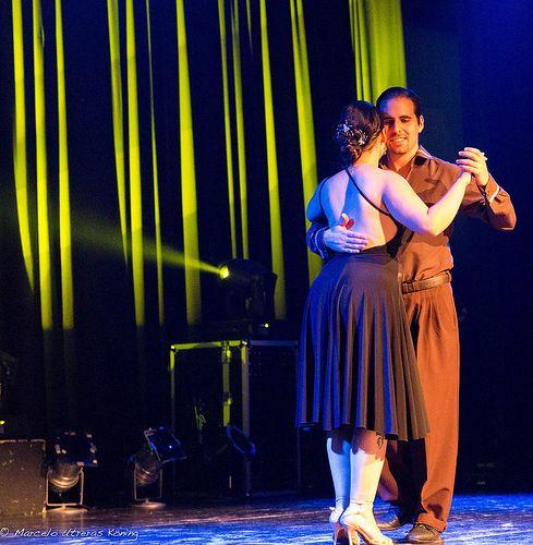 Campeones Nacionales de Tango Salón 2013 - Camila Gajardo y Claudio Milán (Stgo. Chile) en Teatro Diego Rivera. 10 Enero, 2014.