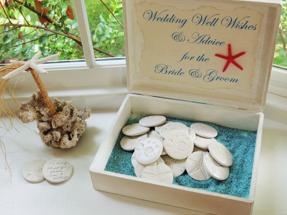 Custom Wedding Guest Book Alternative Unique Guestbook Well Wishes and Advice Beach Wedding Theme Personalized Box on Etsy, $173.55 AUD