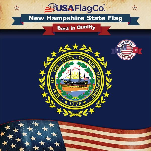 New Hampshire Flag State Flags Us States Flags Flag