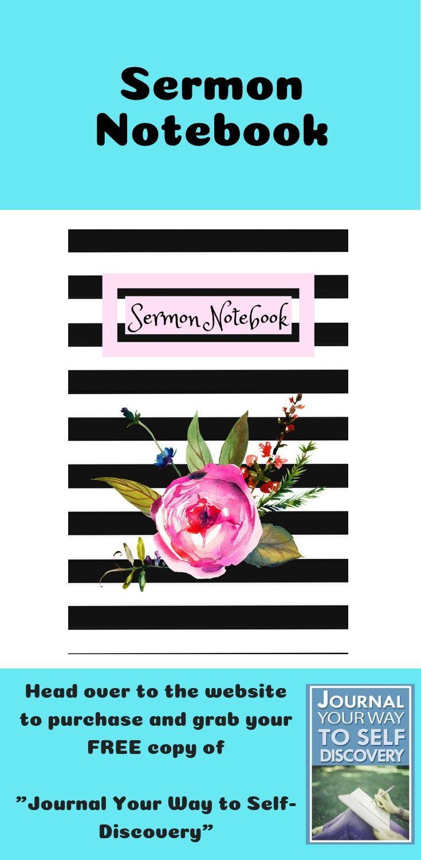 Sermon Notebook: Blank Journal for Women Worship Tool for