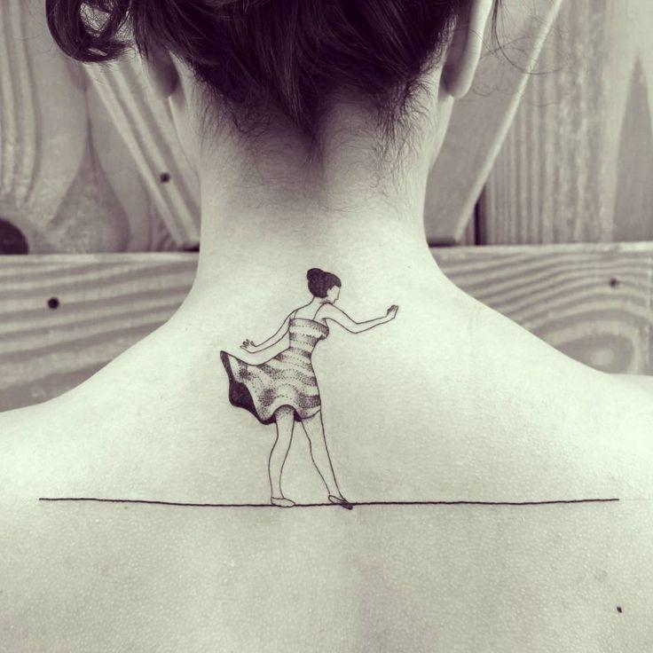 Equilibrista da Bianca hj! #ink #inked #tattoo #tattooist #blackworkers…