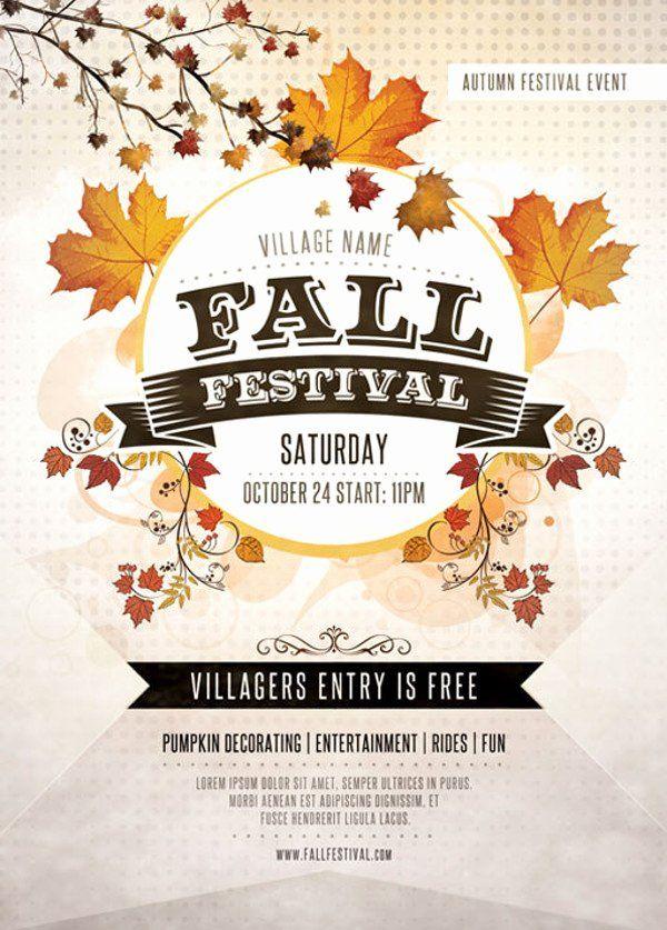 Fall Festival Flyer Template Free Beautiful 35 Elegant Festival Flyer Design Templates Ai Word Festival Flyer Flyer Design Templates Flyer Template Free