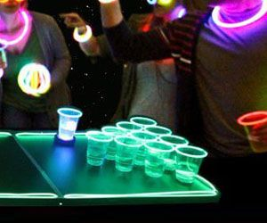 Make any party an epic one by setting up a glow in the dark beer pong competition. Now thanks to the neon lit cups, balls and table you'll be able to add an...
