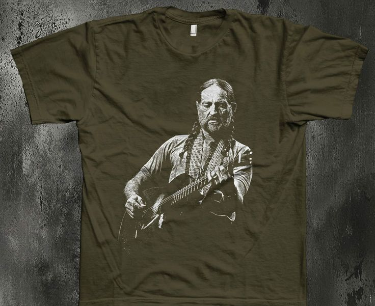 Willie Nelson vintage style t shirt country guitar american S-5XL olive #100cotton #GraphicTee
