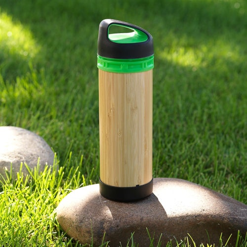 Bamboo All Purpose Eco Bottle - Why is this water bottle better than the rest? It works for both hot and cold beverages, and the outside is made from hand-harvested renewable bamboo, which also adds a unique look. The protected glass interior is made from recycled glass, and the screw top is made from food-grade, BPA-free plastics. I have 3-4 different types of bottles taking up space in my storage bin and this would alone would easily take their place.
