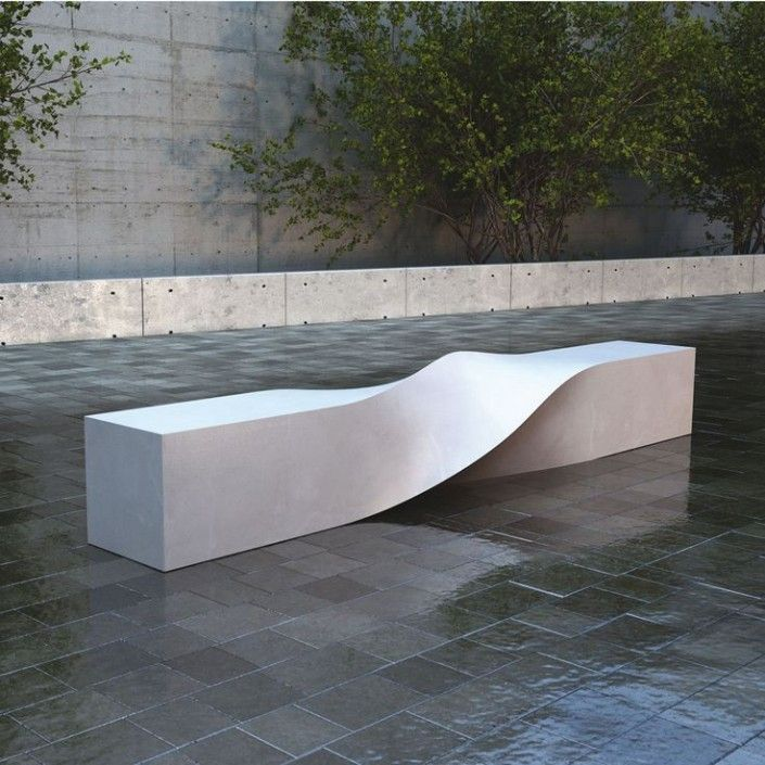 Banc Exterieur Design #10: Banc-design-beton-urbandesign