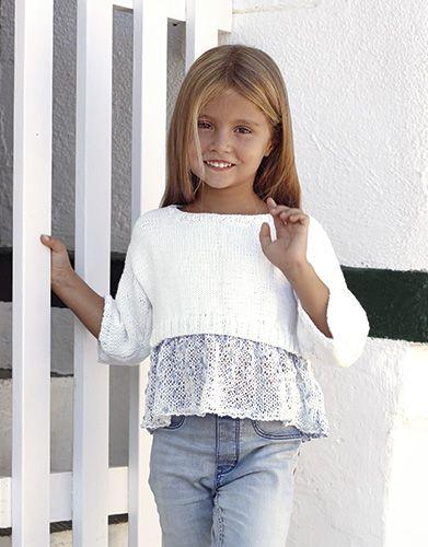 Revista Niños 81 Primavera / Verano | 10: Niños Jersey | Tejano claro / Blanco