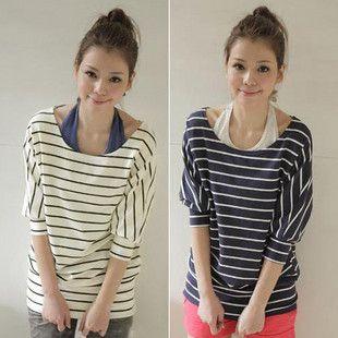 2014-penawaran-khusus-kapas-O-neck-musim-panas-resmi-gaya-Preppy-junior-pakaian-Stripe-longgar-kemeja.jpg (310×310)