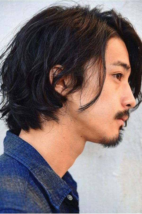 Japanese Haistyle Wavy Synthetic Hair Capless Wig | Asian men long hair, Asian hair, Mens ...