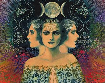 Sisters of Mercy Pagan Music Goddess Art 16x20 by EmilyBalivet