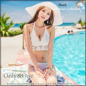 ホーム :: 水着・ビキニ BeachTime :: レディース水着 :: バンドゥビキニ :: レディース水着/無地/クロスデザイン/クロスビキニ/ビキニ2点セット(全7色)[sbk]【2016年7月】