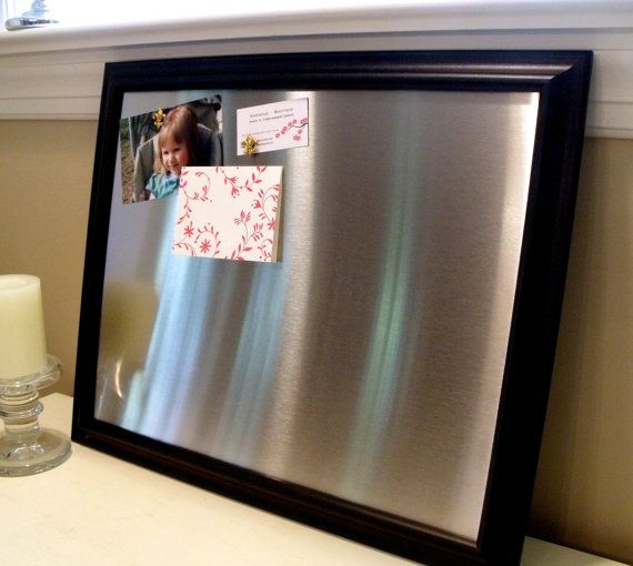 Large Framed Magnetic Bulletin Board Memo Board By