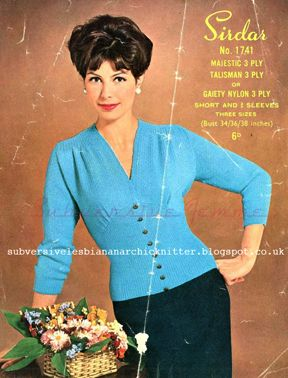 1960's Knitting pattern for Sirdar 1741 Lady's Jumper