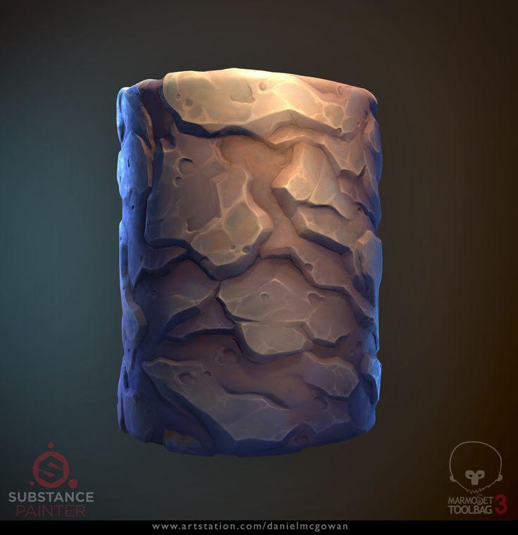 ArtStation - Stylized Rock Material, Daniel McGowan
