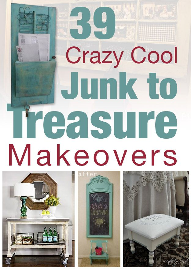 39 Fabulous Junk to Farmhouse Styled Treasure Makeovers!