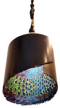 Peacock Feather Pendant   Eclectic   Pendant Lighting   EcoFirstArt