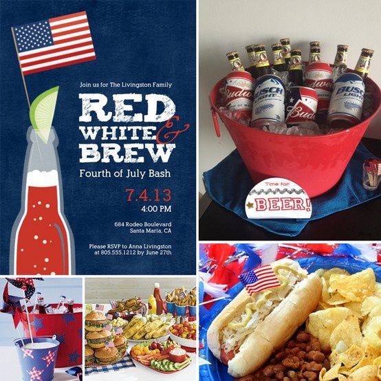 July 4th Party Ideas and Custom Invitations