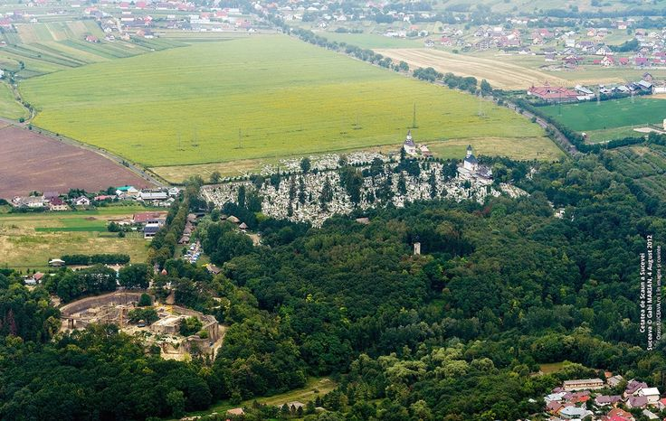 Suceava fortress Romania aerial landscapes  pictures moldavia moldova
