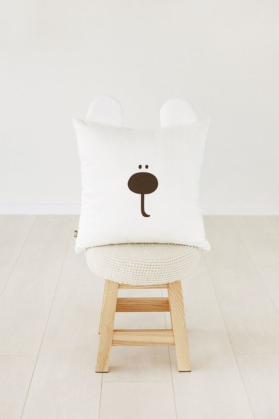 Fatti a mano miele orso bianco cuscino / cuscino di MyWhiteCup
