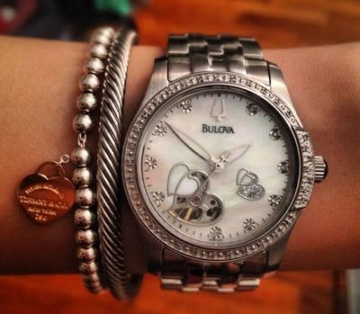 bulova womens 96r122 diamond accented automatic watch