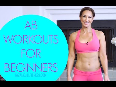 Ab exercises for beginners! | Workout with Natalie Jill! - YouTube