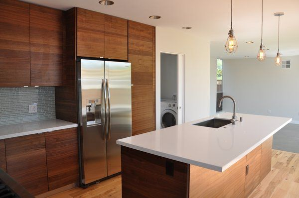 modern walnut kitchen cabinets walnut veneer kitchen cabinets modern search 7786